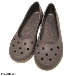 Crocs Chocolate Brown Slip-on Flats sz 10